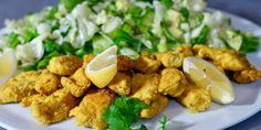 Sprø kyllingpinner – Berit Nordstrand Norwegian Food, Norwegian Recipes, Lchf, Potato Salad, Meat, Chicken, Dinner, Ethnic Recipes, Drinks
