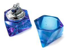 Octahedron Table Lighter and Ashtray Set | Andrew O. Hughes | www.shop-tetra.com