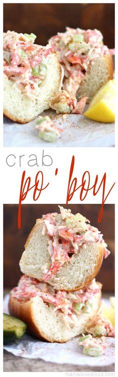 Crab Po'boy Recipe #MealInspirations #ad