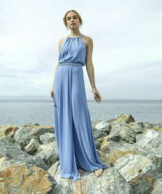 9ebddb90a2d4 Φόρεμα πλισέ μουσελίνα με διχρωμία και αποσπώμενη δετή ζώνη