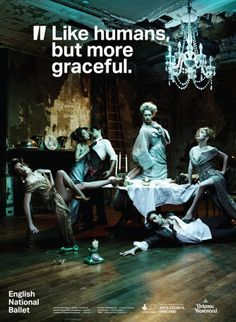English National Ballet new campaign. Outfits by Vivienne Westwood ♥ Wonderful! www.thewonderfulworldofdance.com #ballet #dance