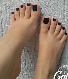 Image may contain: one or more people and text Black Toe Nails, Pretty Toe Nails, Cute Toe Nails, Sexy Nails, Sexy Toes, Pretty Toes, Feet Soles, Women's Feet, Foot Pedicure