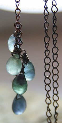 Spring Rain Collection Rain Chain Fluorite by AllowingArtDesigns, $32.00
