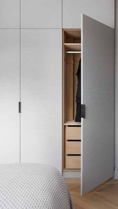 The Curated Closet: These Ideas Will Keep Your Bedroom Wardrobe Looking Picture-Perfect Bedroom Built In Wardrobe, Bedroom Closet Design, Bedroom Furniture Design, Wardrobe Doors, Wardrobe Closet, Closet Doors, Home Bedroom, Modern Wardrobe, Pax Closet