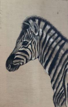 #Zebra puppy, acrilic on natural canvas 30X50 cm Lucilla Bollati