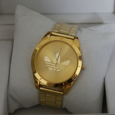 Golden Fashion Luxury Stainless Wristwatch
