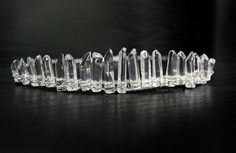 One Of A Kind - Ice Crystal Diadem Quartz Crystal Tiara Crown Custom Size Ice Queen Snow Wedding Masque Fantasy Cosplay Hair Accessory