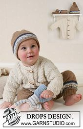 Ravelry: b13-14 Jacket, Trousers, Hat and Soft Toy in Alpaca pattern by DROPS design