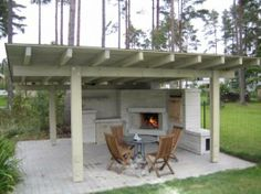 How Does Pergola Work Backyard Pavilion, Backyard Bar, Backyard Sheds, Pergola Patio, Pergola Ideas, Outdoor Seating Areas, Outdoor Spaces, Outdoor Living, Outdoor Decor