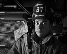 firefighter Mike Dominguez at Station 67 by bsomedic, via Flickr