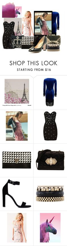 """Friends and Strangers"" by aciellelacie ❤ liked on Polyvore featuring Proenza Schouler, Marchesa, Yves Saint Laurent, Iosselliani, Keepsake the Label, Studio Cockatoo, McQueen and laurent"