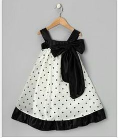 a look at this Black Polka Dot Bow Dress - Toddler & Girls by Kid's Dream on today!Take a look at this Black Polka Dot Bow Dress - Toddler & Girls by Kid's Dream on today! Toddler Girl Dresses, Toddler Outfits, Kids Outfits, Toddler Girls, Toddler Dress Patterns, Little Girl Dresses, Girls Dresses, 50s Dresses, Elegant Dresses