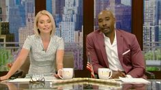 Morris Chestnut, Kelly Ripa, Breast, Suit Jacket, Blazer, Suits, Jackets, Live, Search
