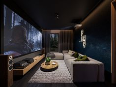 Home Cinema Room, Home Theater, Room Interior Design, Home Office Design, Living Room Theaters, Gaming Rooms, Basement House, Theatres, House Goals