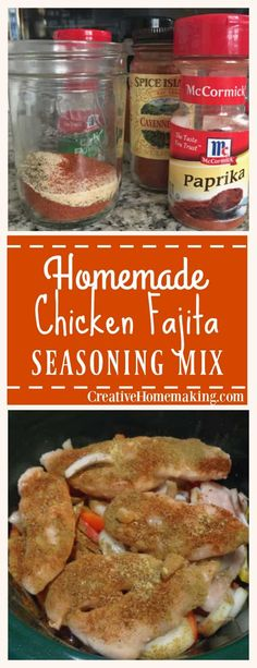 Easy homemade chicken fajita seasoning mix made from scratch. All natural and no additives or preservatives. Chicken Fajita Seasoning Mix - Easy homemade chicken fajita seasoning mix made from scratch. All natural and no additives or preservatives. Fajita Marinade, Fajita Mix, Fajita Seasoning Mix, Homemade Fajita Seasoning, Fajita Recipe, Chicken Seasoning, Homemade Spices, Homemade Seasonings, Chicken Fajita Rezept