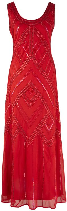 Christmas or New Year's Eve party dress / gown in red. To size 22 (plus size). This deco (Gatsby) style dress is also great for cruise formal nights. Holiday Dresses, Holiday Outfits, Cruise Outfits, Cruise Wear, Cute Clothes For Women, New Years Eve Outfits, Older Women Fashion, Simple Dresses, Plus Size Fashion