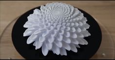 "These 3-D printed sculptures are designed to animate when spun under a strobe light. Called ""Blooms"", this video films them with a short shutter speed."