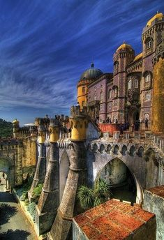 Castle Sintra, Portugal - amazing in the Sintra Mountain, half an hour from Lisbon Sintra Portugal, Spain And Portugal, Portugal Travel, Places Around The World, Oh The Places You'll Go, Places To Travel, Places To Visit, Around The Worlds, Wonderful Places