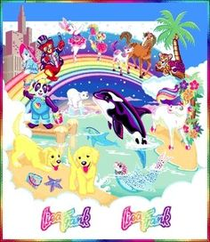 Lisa Frank!  Stickers, stationary, notebooks, etc. All covered in shiny, glittery greatness!!