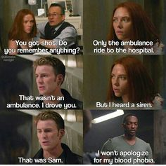 Snort but Sam's a soldier. I doubt this would ever happen.