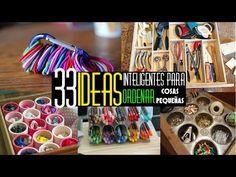 33  Ideas inteligentes para organizar/guardar/almacenar cosas pequeñas de cocina o la casa - YouTube