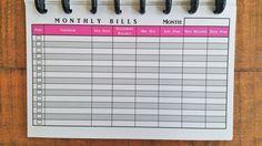 Printed Discbound Bill Trackers Monthly undated by JanesAgenda