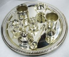 hindu soaps | Hindu Altar Temple Prayer Puja Thali IN Silver 9 Items | eBay