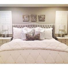 Shutters are up // and I actually made the bed.  #zgallerie #homedecor #masterbedroom @zgallerie