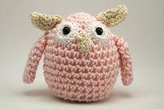 Pin cushion Owl Home Decor Amigurumi  Pastel Pink by minibytes, $20.00
