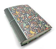 CitriDori Travelers Notebook in Love Birds. Stitched by CitriDori