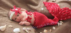 Like the pearls on tail....cute.....NEW Baby BOY Girl Crochet Beanie Costume Outfit SET HAT 0 3 3 6 MHTS Photo Props   eBay