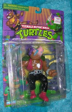 TEENAGE MUTANT NINJA TURTLES BEBOP 1998 REISSUE OF CLASSIC ACTION FIGURE WARTHOG #PlaymatesToys