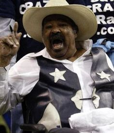 "Crazy Ray, dressed in his signature cowboy duds, cheered on his beloved Dallas Cowboys for decades and was well-known for energizing the crowds with his sideline cheerleading.     When Crazy Ray died in 2007, Cowboys owner Jerry Jones spoke fondly of him saying,    ""He touched thousands of lives and generations of football fans. He will remain an important part of this team's heritage and family for as long as fans go to Cowboys games and feel his spirit."""