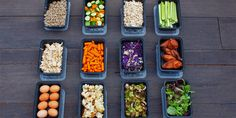 Buffet Style Meal Prep with Shredded Chicken, Roasted Veggies, and More - The Team Beach...