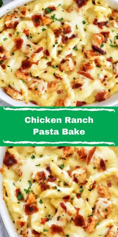 Welcome To My Article,All About Food And Drink. Chicken Ranch Pasta Bake Chicken Ranch Pasta Bake is a simple pasta recipe bursting with creamy ranch flavor. This recipe is easy and delicious! Baked Pasta Recipes, Healthy Chicken Recipes, Healthy Dinner Recipes, Cooking Recipes, Easy Recipes, Healthy Cooking, Dessert Recipes, Desserts, Best Pasta Dishes