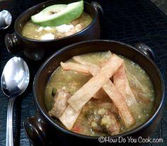 How Do You Cook.com: Salsa Verde Chicken Tortilla Soup