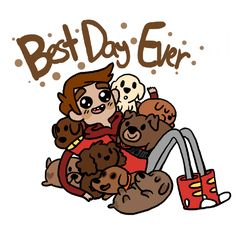 Thanks Mari for Danny + Chocolate Puppies fan art