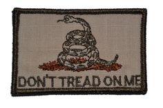 Tactical Gear Junkie - Don't Tread on Me Gadsden Snake - 3x2 Hat Patch, $4.99…