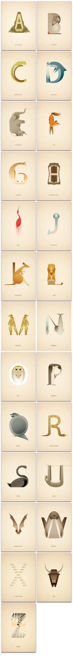 Animal_Alpabet01 #tipography #animal
