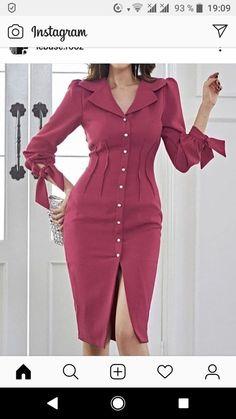 Cheap Elegant Dresses, Casual Dresses, Fashion Dresses, Work Dresses, Formal Dresses, Classy Dress, Classy Outfits, Hijab Stile, Frack