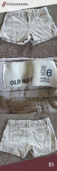 Girl's Linen Shorts Old Navy Girl's Size 6 Linen Shorts. GUC Old Navy Bottoms Shorts