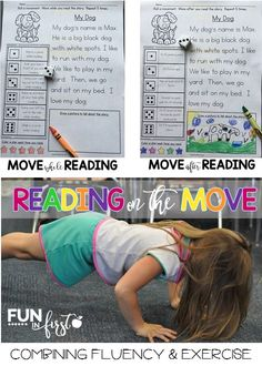 Reading on the Move is an amazing way to combine reading fluency and exercise. You're students will love it!