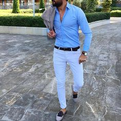 The Gentleman's Swag is part of Mens fashion - Men's casual wear Formal Men Outfit, Casual Wear For Men, Casual Outfits, Stylish Mens Fashion, Mens Fashion Suits, Mens Suits, Moda Formal, Men With Street Style, Herren Outfit