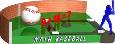 A free online math game for kids. Practice different levels of addition, subtraction, multiplication & division with an interactive baseball theme. Educational Games For Kids, Kids Learning, Learning Activities, Learn Math Online, Free Math Games, Fun Brain, Math Questions, Basic Math, School