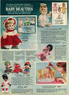 1975 ADVERTISEMENT Doll Rub-A-Dub Baby Tender Love Kimmie Angel Calico Kids Lisa in Collectibles, Advertising, Merchandise & Memorabilia | eBay