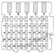 Underhood fuse box diagram Buick Century (1997, 1998