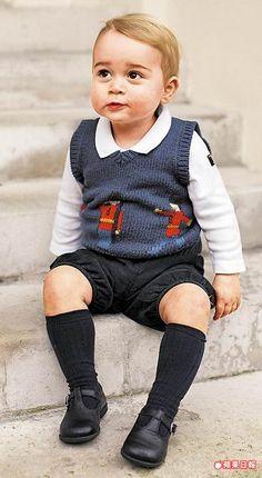 喬治小王子遺傳父母的優良基因,十分討喜。法新社