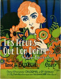Les Fleurs que l'on Donne, 1923 (ill.: Clérice frères); ref. 2785