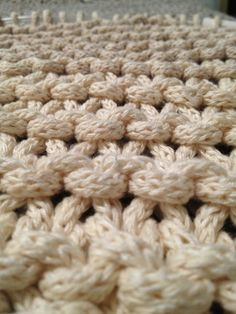 Chunky I-cord knitting… Crazy amount of work but so worth it …