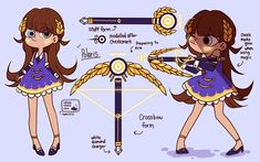 """whalesharkollie: """"My third fan kid for my SVTFOE AU! Polaris Butterfly, Star and Marco's daughter. Her wand is a staff that also takes the form of a crossbow (wow ikr I made a Starco daughter whattttttt) I was debating on whether I should make a..."""